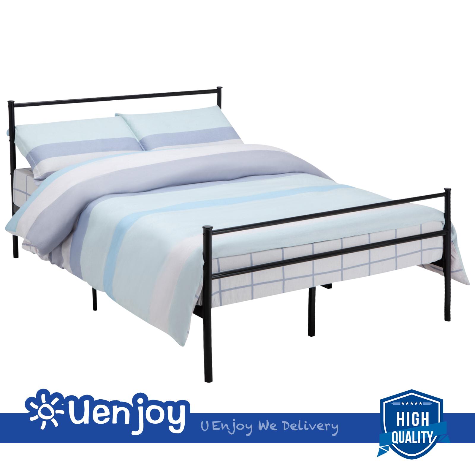 Twin Full Queen Size Metal Bed Frame Platform Foundation Headboard ...