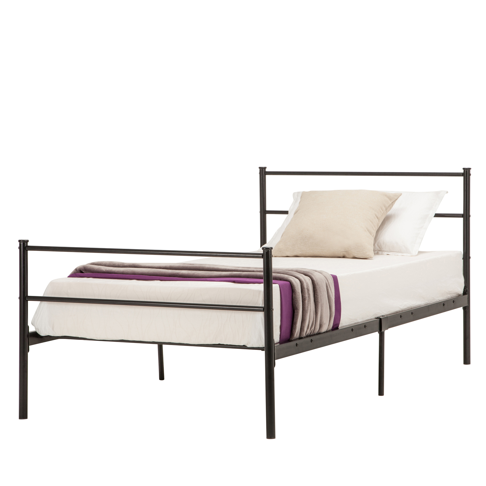 twin full queen size metal bed frame platform mattress foundation headboard ebay. Black Bedroom Furniture Sets. Home Design Ideas