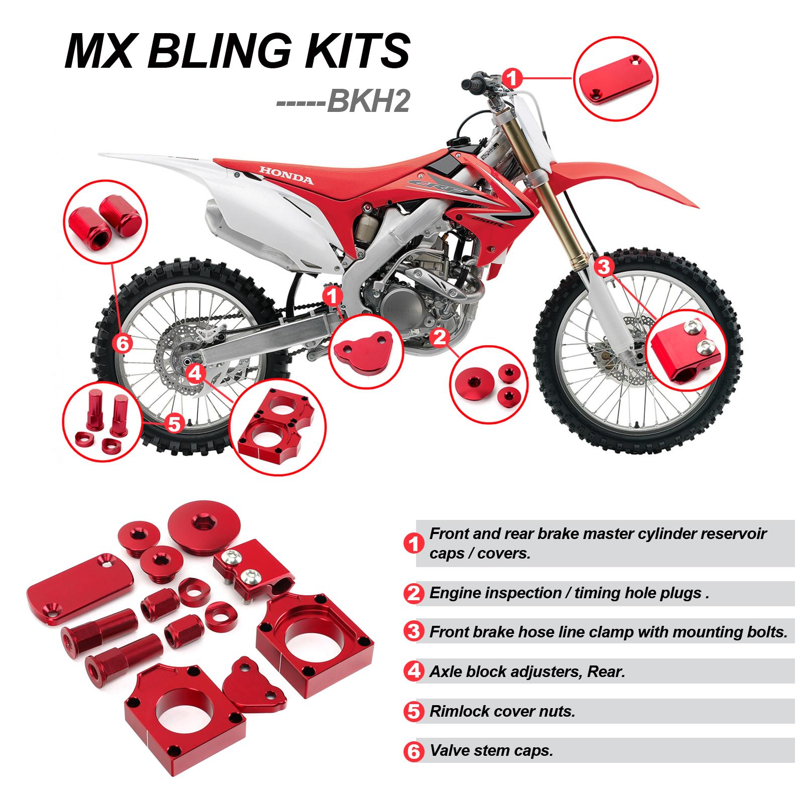 CNC Billet Aluminum Bling Kits for Honda CRF450R 2009-2018 CRF450RX 2017 18 Red