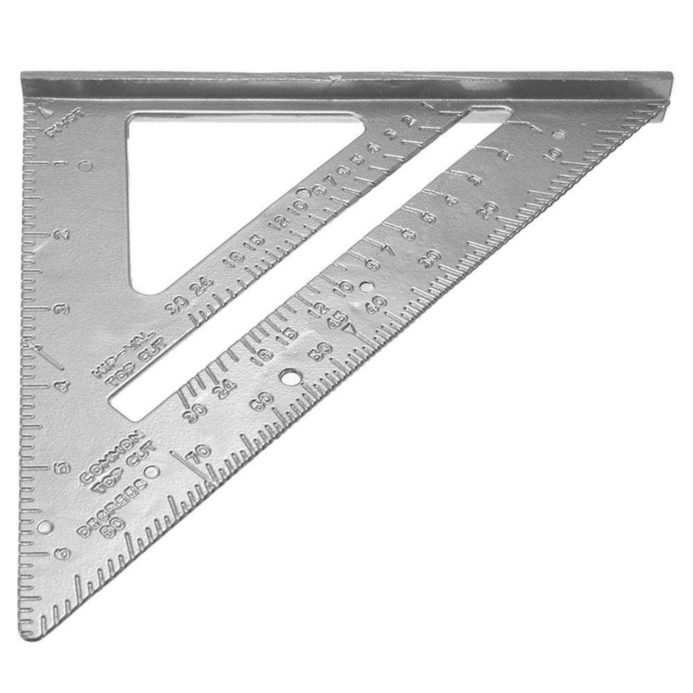 """Aluminum Alloy Tri Square Speed 7/""""Triangle Ruler Builder Carpenter Measure Tool"""