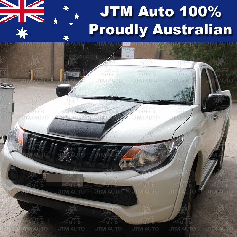 Matt Black Bonnet Scoop Hood Raptor Suits to Mitsubishi Triton MQ 2014-2018