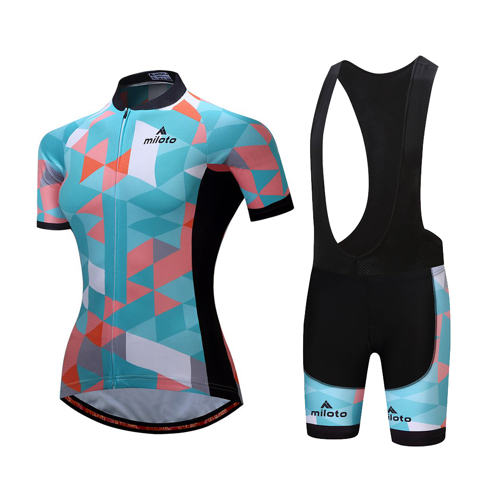 Details about Cycling Kit Women's Bicycle Clothing Bike Cycle Jersey and Bib Shorts Padded Set