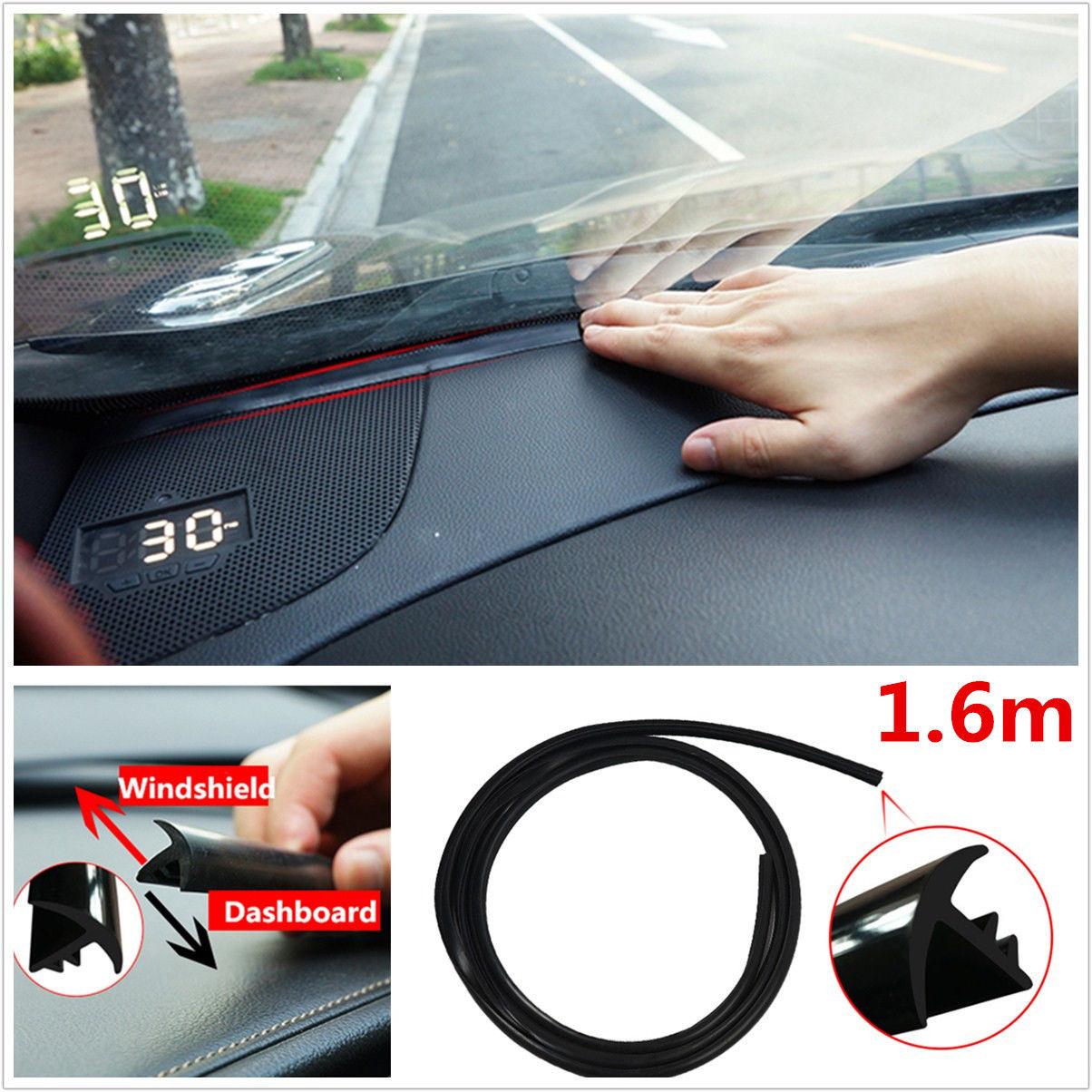 1.6m Rubber Soundproof Dustproof Sealing Strip for Car Windshield Windscreen
