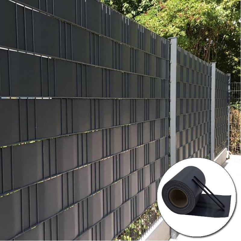 anthrazit balkon sichtschutz pvc sichtschutzmatte sichtschutzfolie zaun 35m 65m ebay. Black Bedroom Furniture Sets. Home Design Ideas
