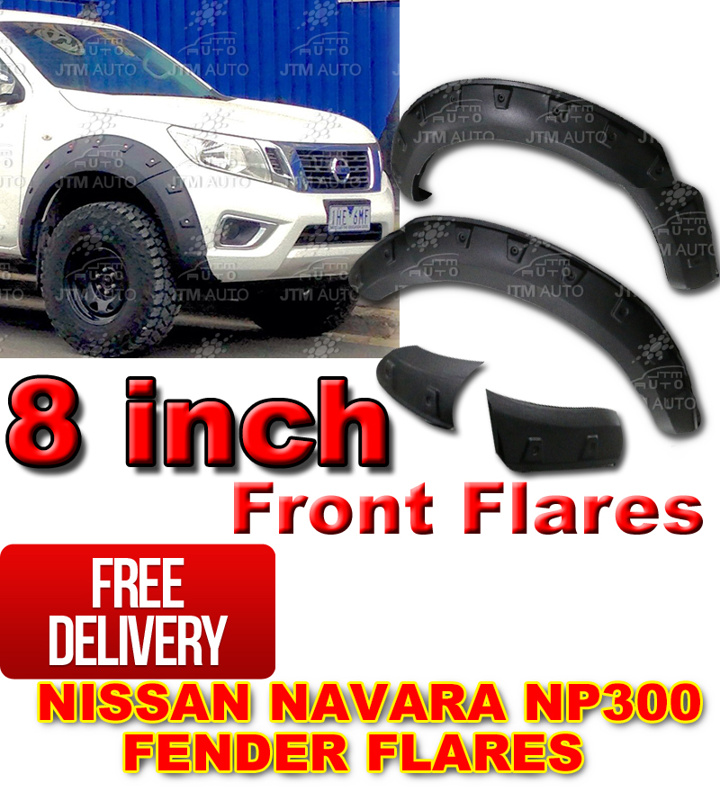 Front Wheel Fender Flares Wheel Arch to suit Nissan Navara NP300 2014-2018