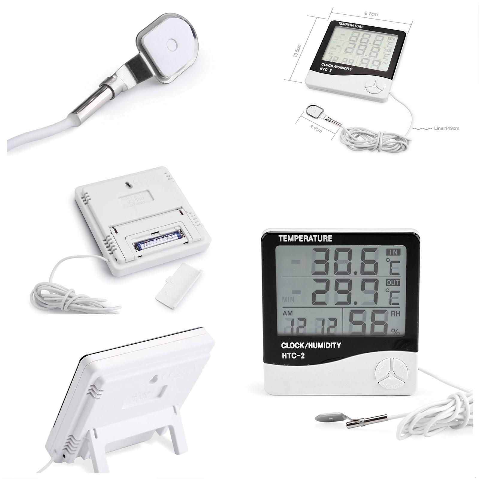 lcd digital innen au en thermometer hygrometer au enf hler. Black Bedroom Furniture Sets. Home Design Ideas