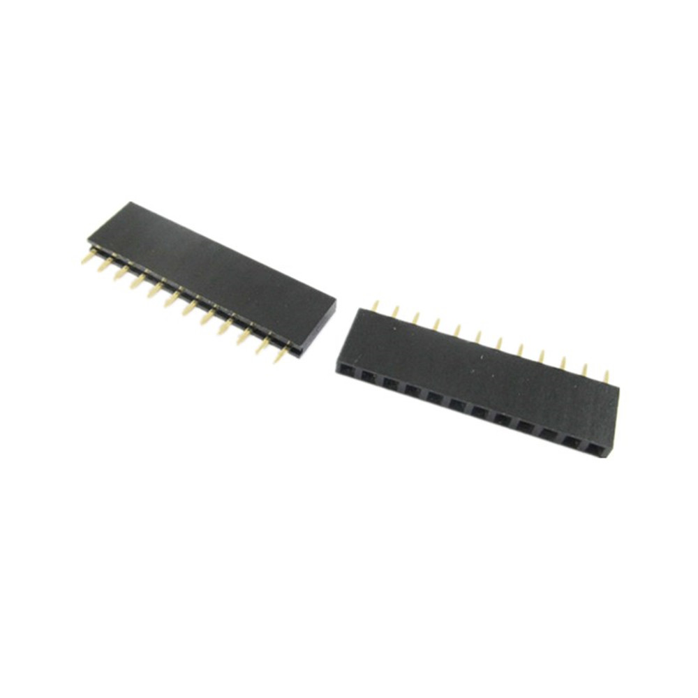 100Pcs 2.54mm Pitch 17 Pin Single Row Straight Female Pin Header Strip PH:8.5mm