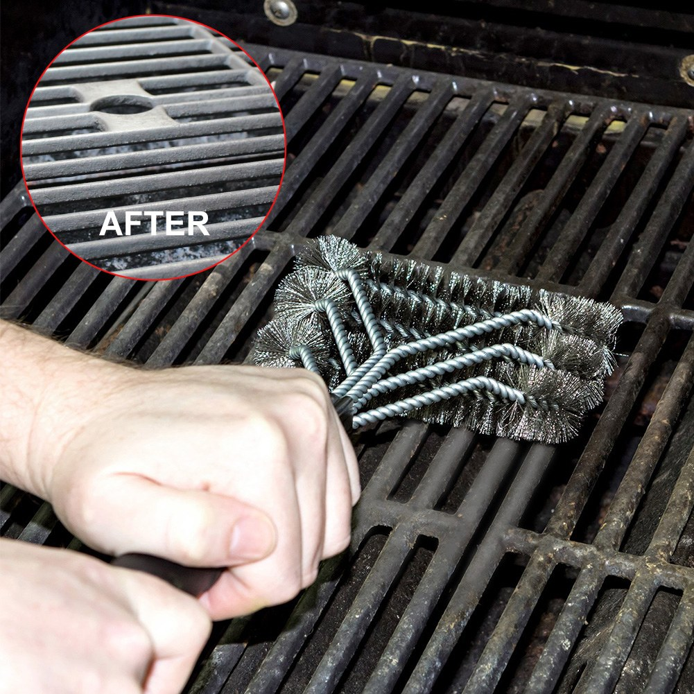 BBQ Grill Brush Scrubber Barbecue Cleaning Tool Stainless StKTP