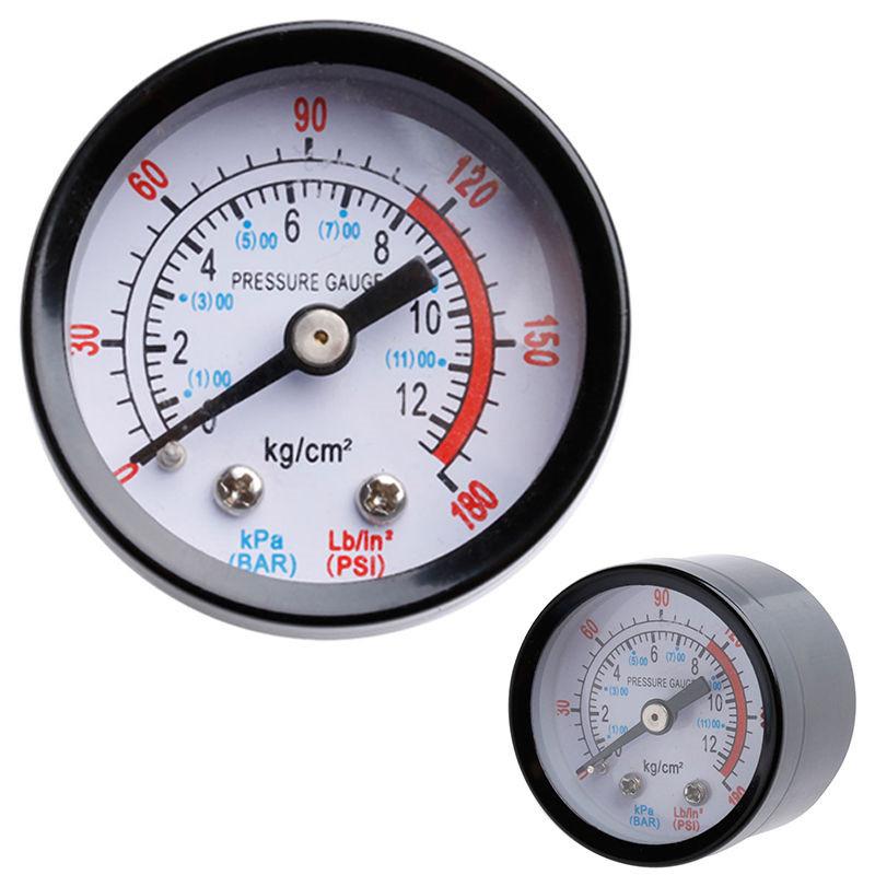 For Air Pressure Gauge 0-180PSI 0-12Bar 1//4BSP Thread Compressor-Gauge 52mm New