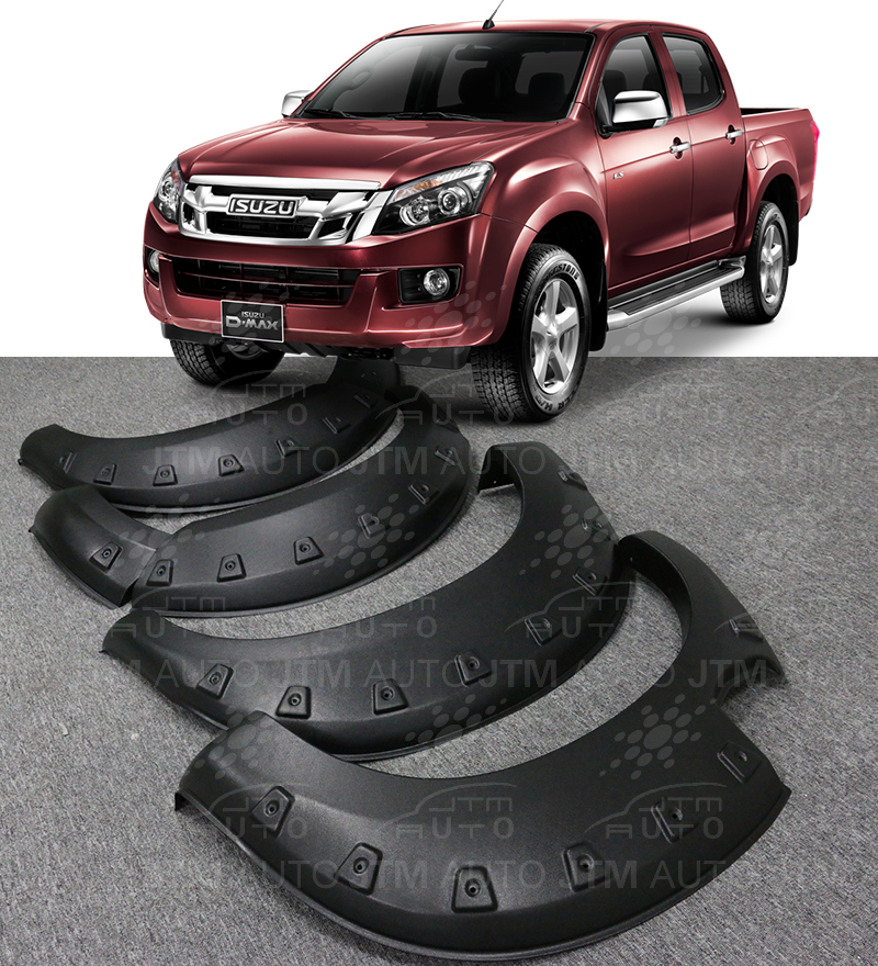 Isuzu D-max Dmax 4 Door Wrinkle Fender Flares Wheel Arch Pocket 2012-2016