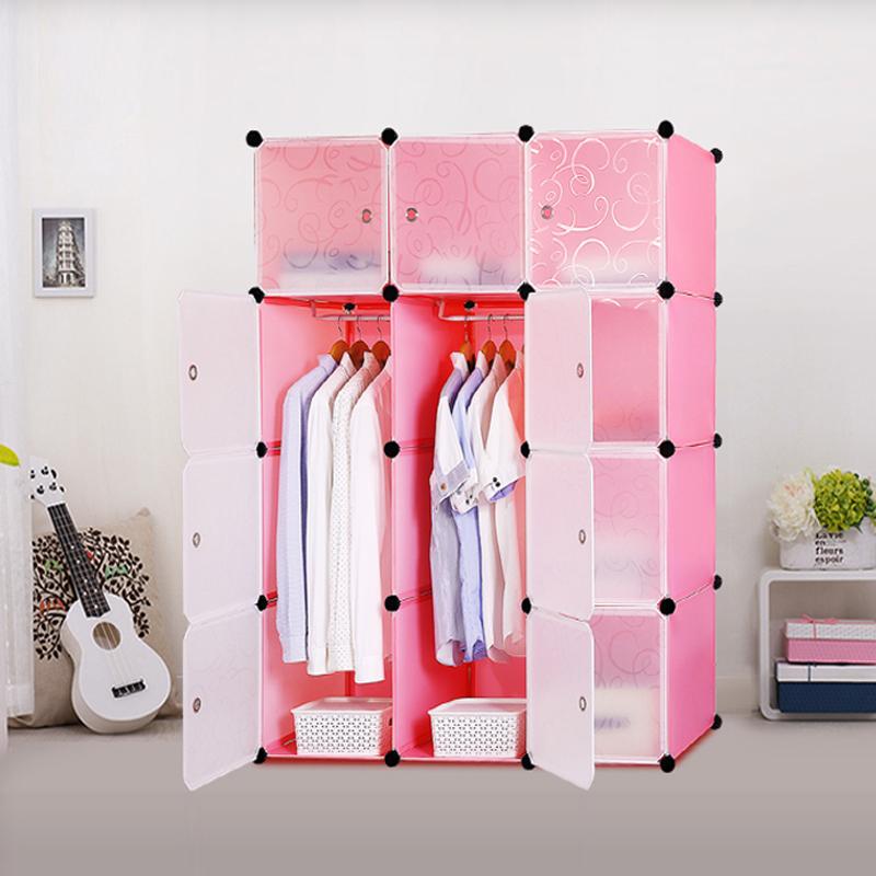 diy kleiderschrank regalsystem garderobe steckregal standregal kunststoff pink ebay. Black Bedroom Furniture Sets. Home Design Ideas
