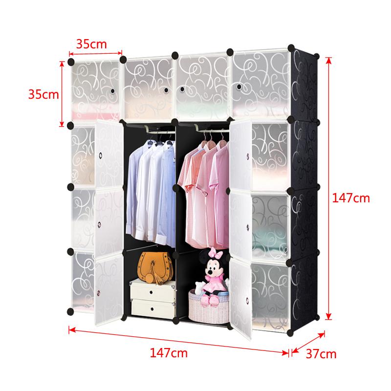 kleiderschrank regalsystem garderobe steckregal standregal kunststoff schwarz ebay. Black Bedroom Furniture Sets. Home Design Ideas