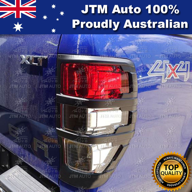 Suits Ford Ranger PX PX2 MATT Black Tail Light Trim Cover Protector 2012-2018