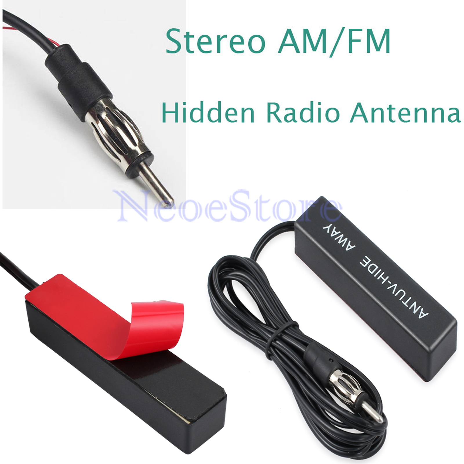 Front Rear Windshield Hidden Amplified Antenna 12v Stereo AM//FM Radio for MINI