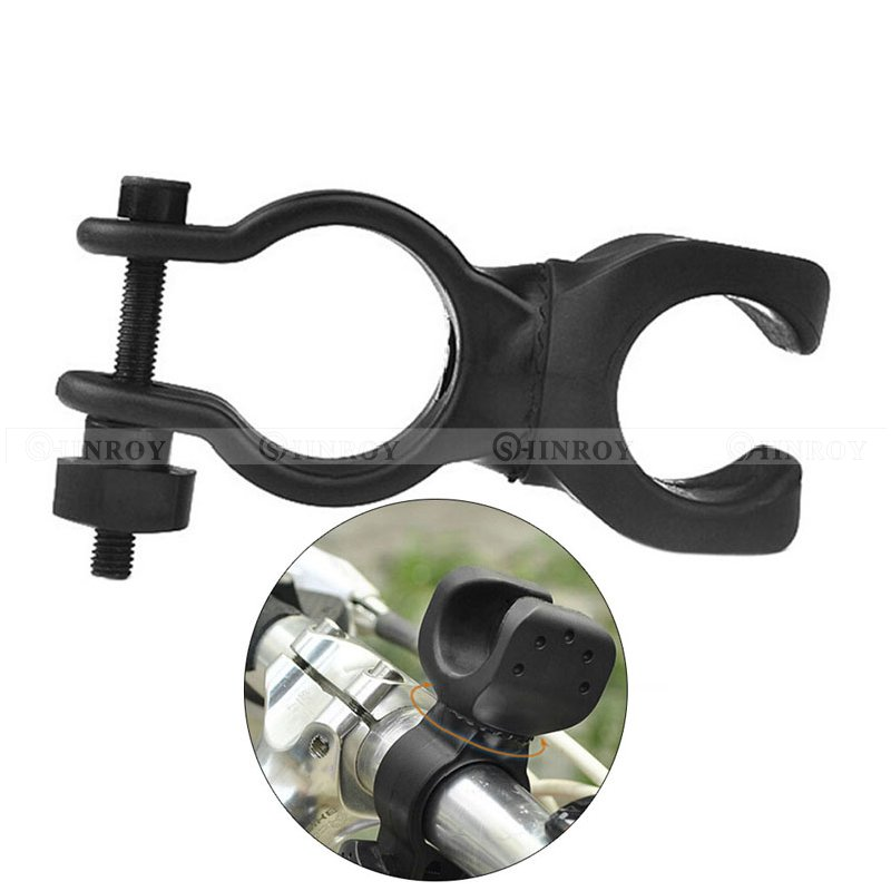 Bike Cycling Flashlight Torch Mount LED Light Holder Clamp Clip 360° Rotation
