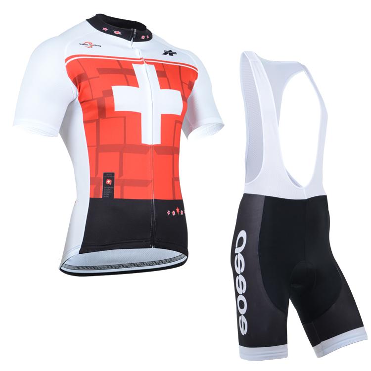 Mens Cycling Clothes Jersey Pad Cushion Bib Shorts Bike Set Uniform Short  Sleeve  b0c87b043