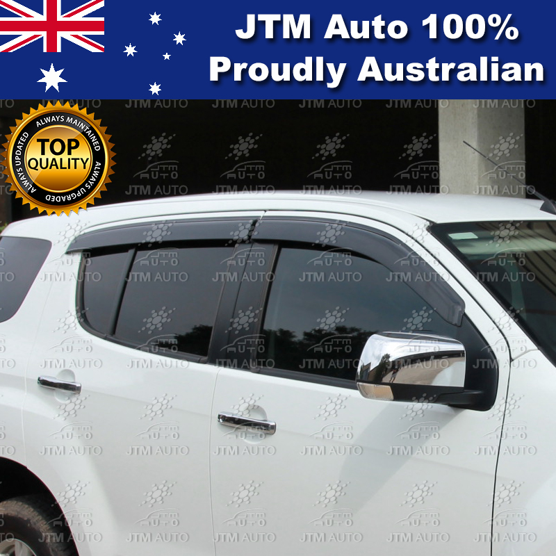 Injection Weather Shield Weathershield Window Visor for Holden Trailblazer 2016+