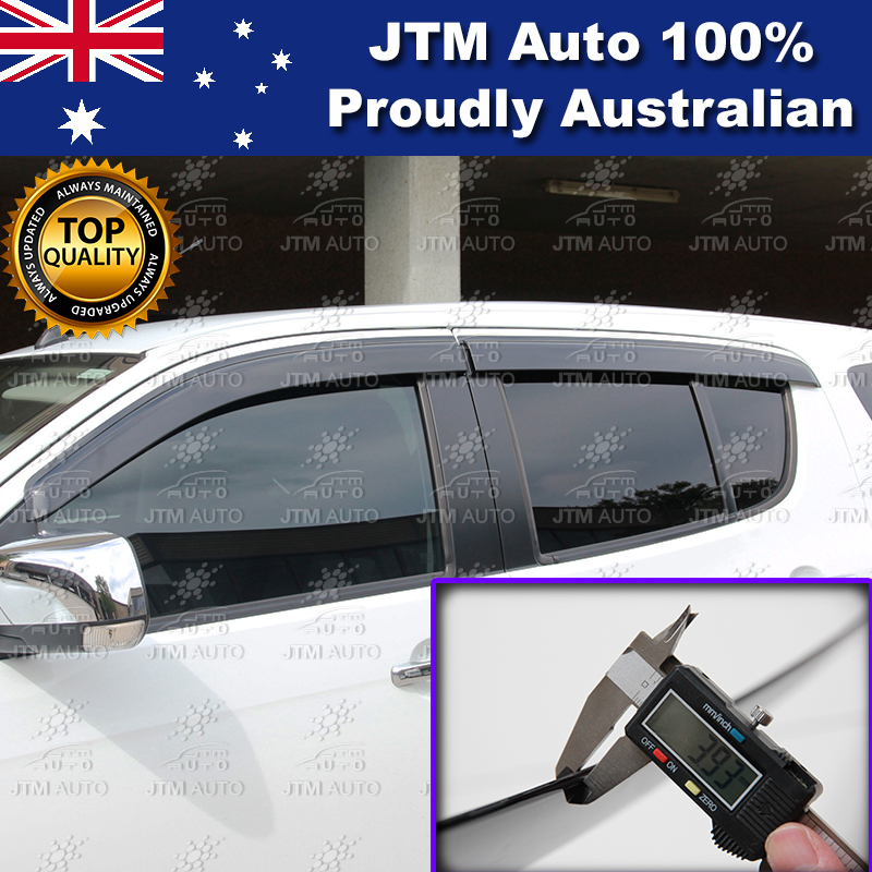 Injection Weather Shield Window Visors suit Holden Trailblazer 2013-2019