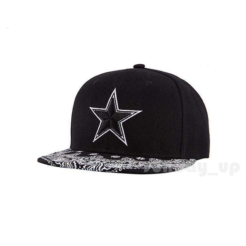 1f9e9ecfa Men Women Paisley Hip Hop Snapback Hats Baseball Flat Caps STAR ...