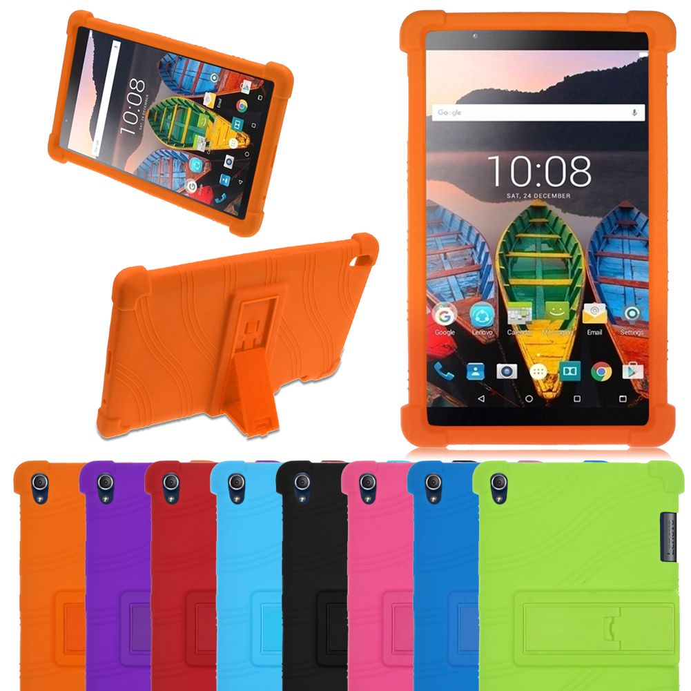 brand new 93c47 2d351 Details about Silicon Stand Case Cover Skin For Lenovo Tab3 8 Plus / P8  (TB-8703F) 8