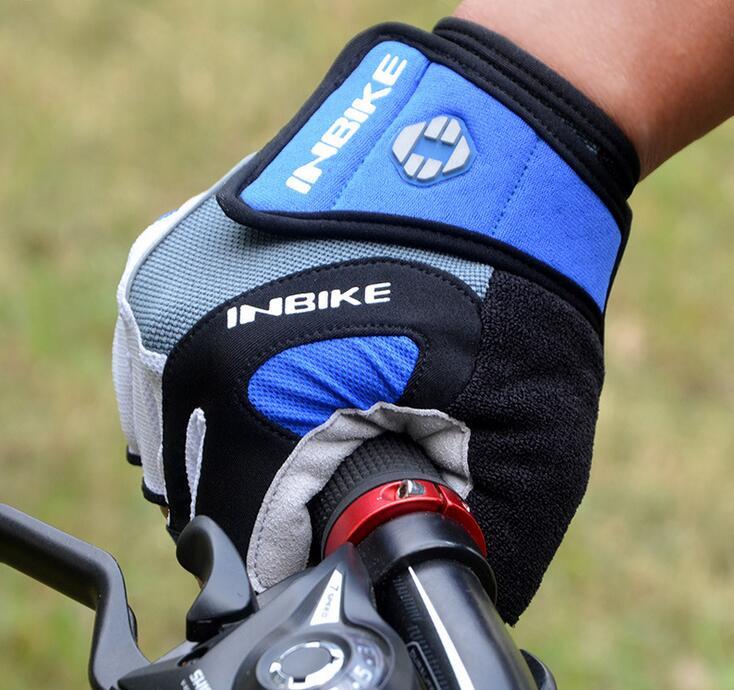 Gloves Bicycle MTB Bike BMX INBIKE Unisex Gel Red or Blue
