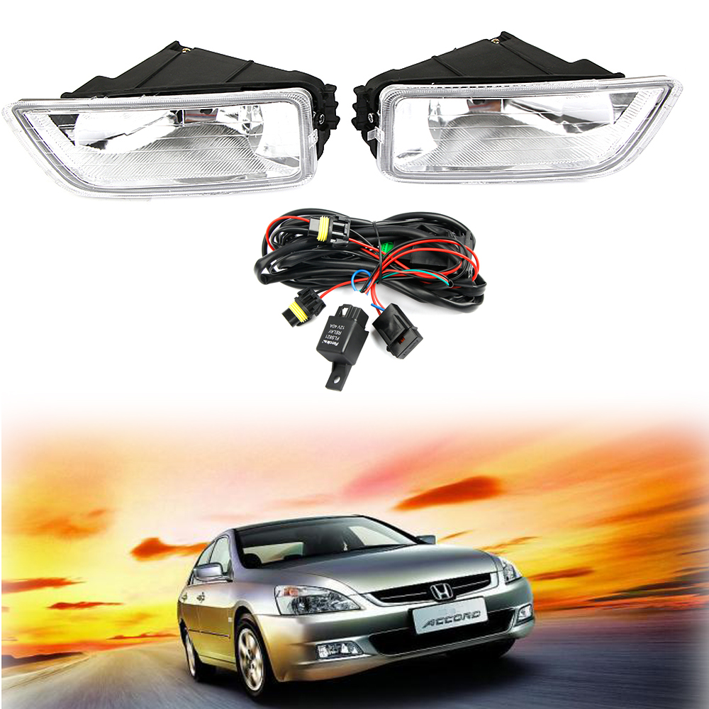 Details about 2X Fog Light W/ Switch Wiring H11 Bulb KIT For Honda on