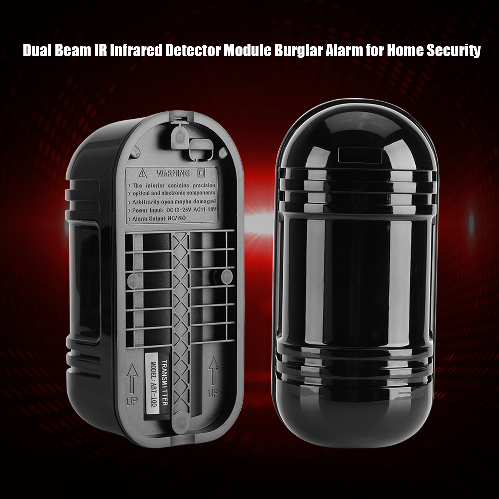 100m Infrared Ir Detector Beam Safety Sensor For Automatic Door Gate Security Us