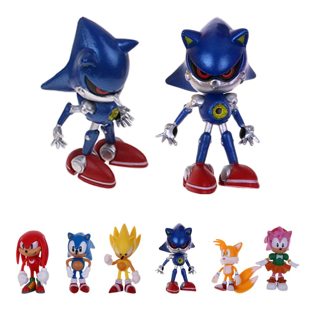 Hot 6pcs Sonic the Hedgehog Action Figure PVC Game Toy Doll Set Cute ...