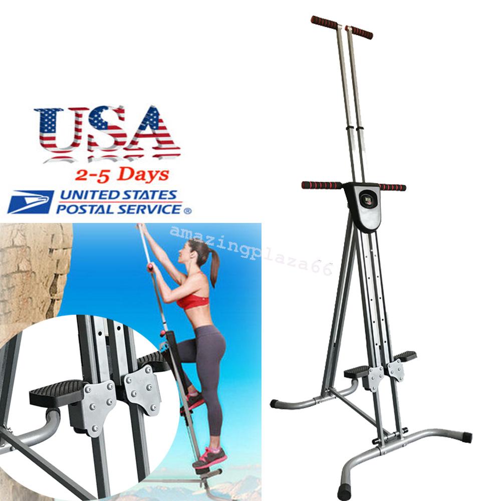 Vertical Climber Machine Exercise Stepper Cardio Workout Fitness Gym Conquer