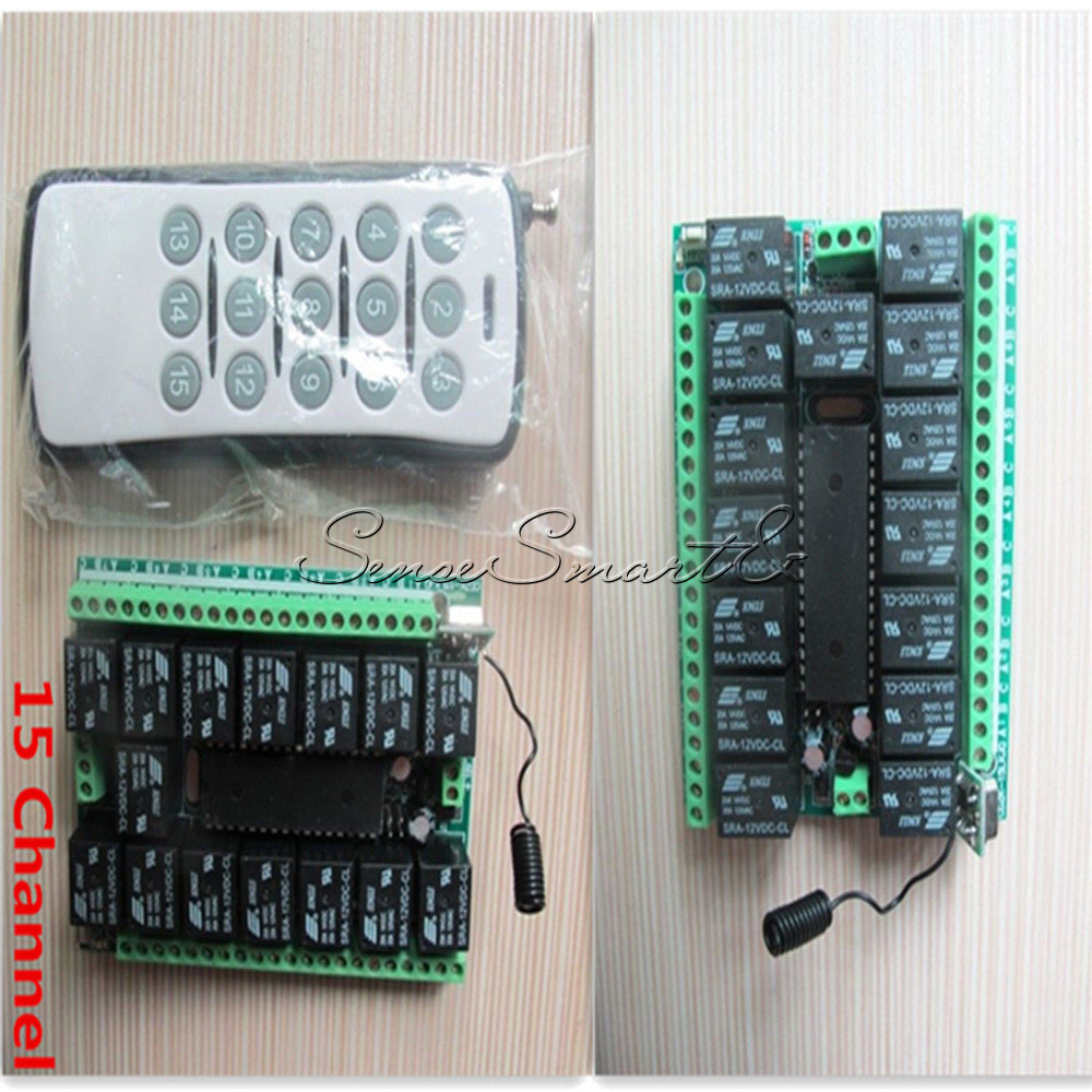 1-4-6-8-12-15-Channel-12V-315MHZ-RF-Remote-Control-Transmitter-Receiver-Module thumbnail 30