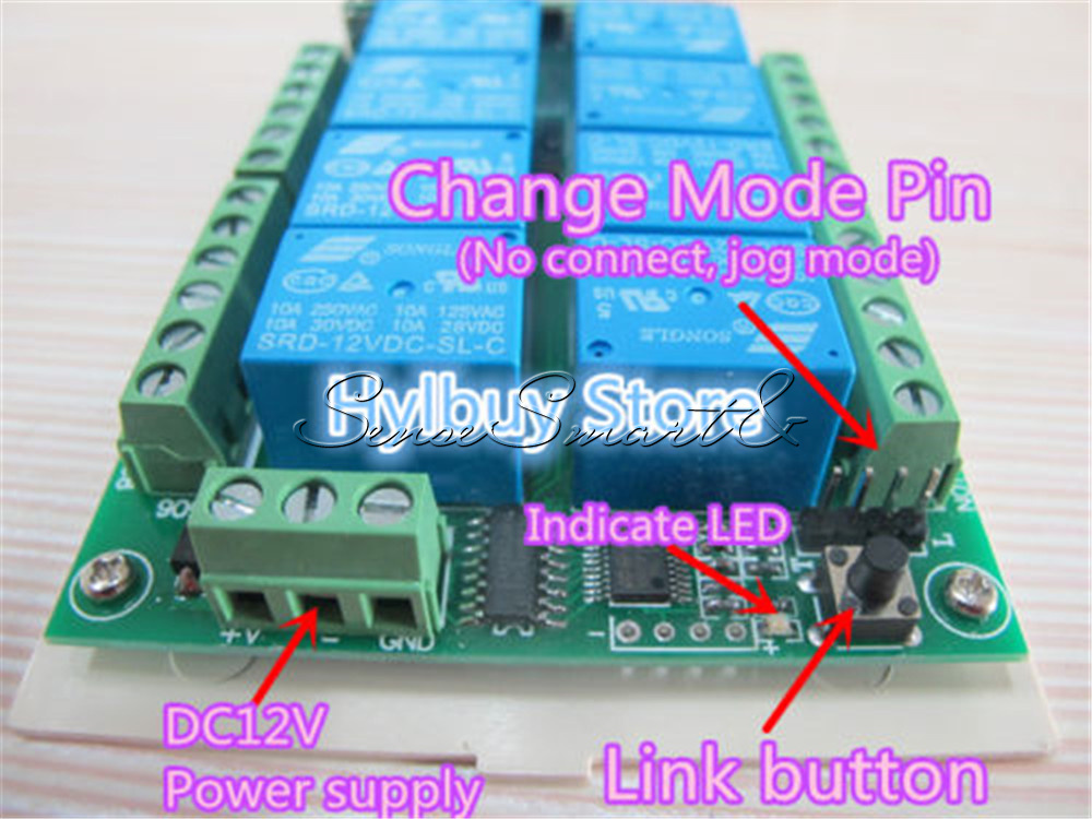 1-4-6-8-12-15-Channel-12V-315MHZ-RF-Remote-Control-Transmitter-Receiver-Module thumbnail 26