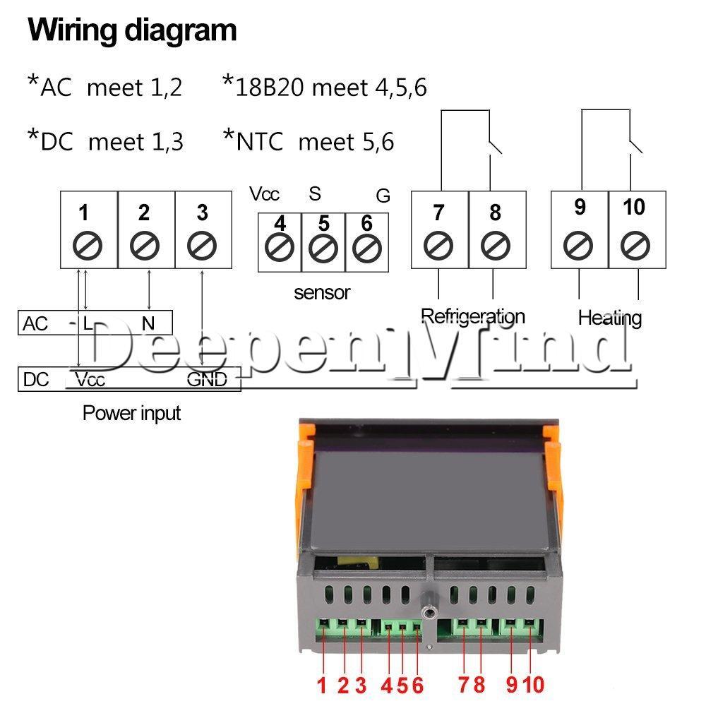 Stc 100 Wiring Diagram Electrical Diagrams 1000 W1209 12 24 220v Digital Temperature Controller Esc