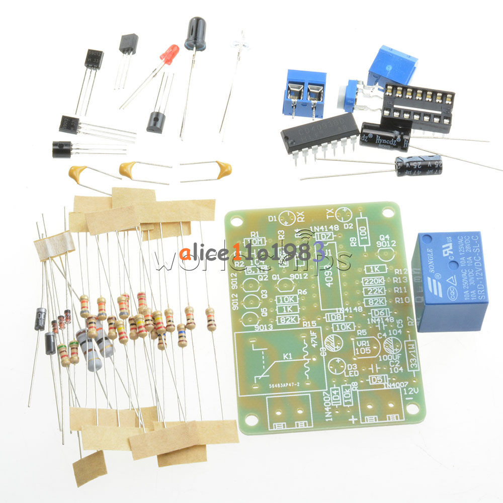 E18-D50NK-E18-D80NK-NPN-Adjustable-Infrared-Reflectance-Sensor-Switch-DIY-Kit thumbnail 18