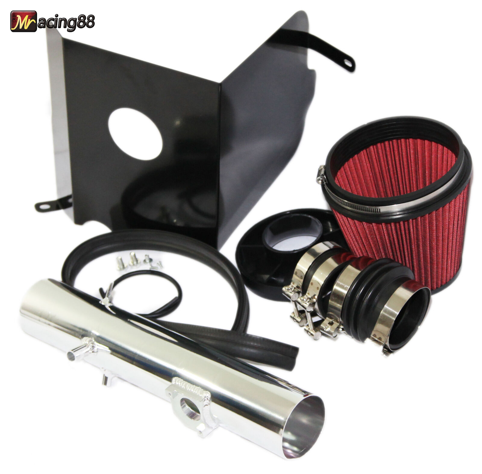 RED Cold Air Intake Kit+Heat Shield for  05-11 Toyota Tacoma 4.0L V6