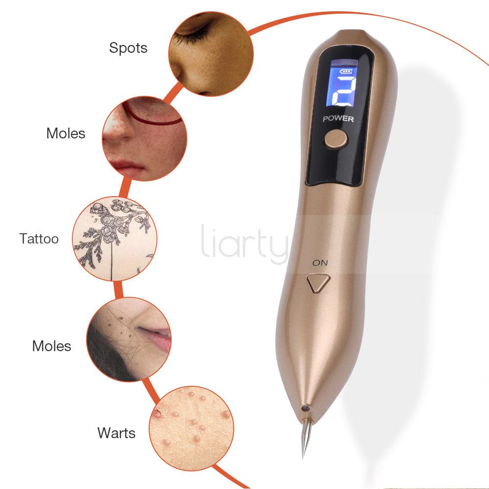 Usb Lcd Laser Skin Tag Freckle Wart Dot Mole Remove Pen