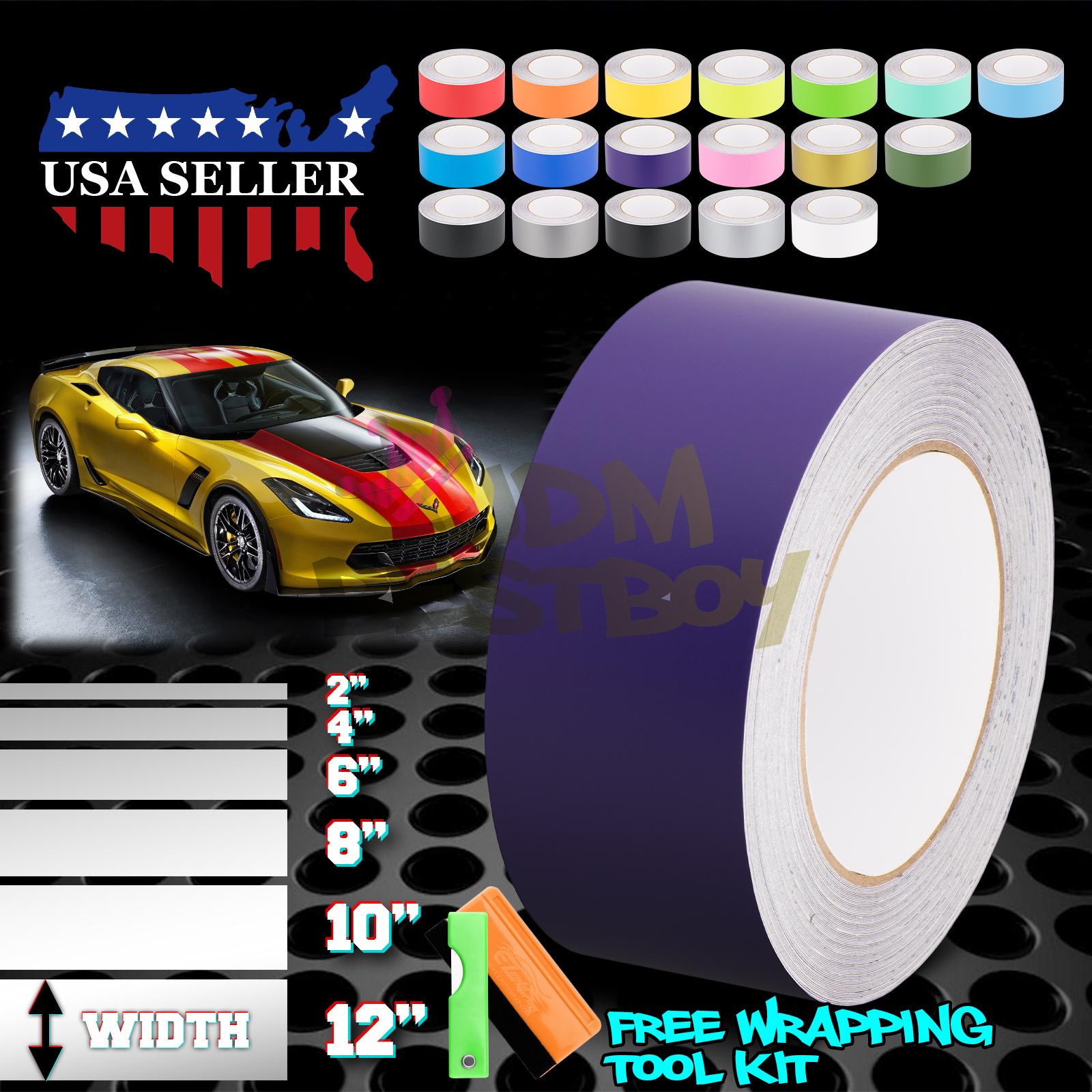 20FT Matte Color Racing Stripes Vinyl Wrap Decal For Mini Cooper Stripe 10FT