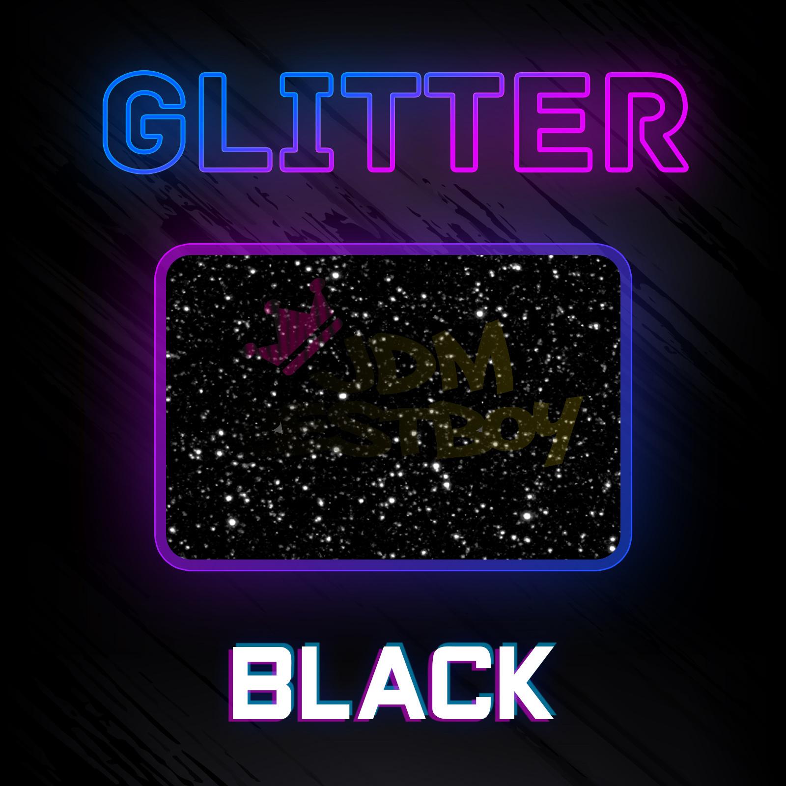 "Black Glitter Heat Transfer Vinyl HTV T-Shirt 20/"" Roll Iron On Heat Press DG01"