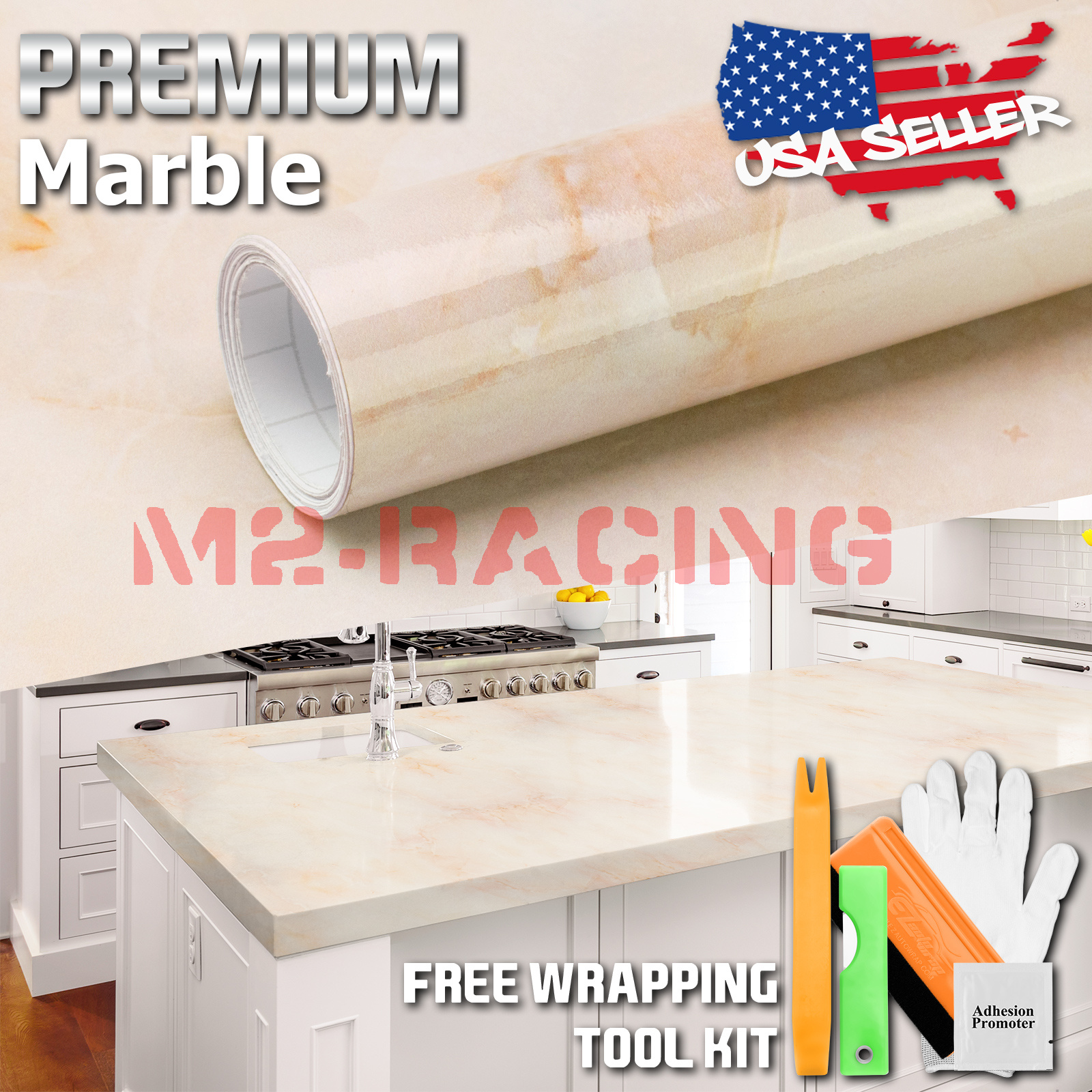 *Premium Marble Granite Look Vinyl Wrap Sticker Contact Paper Home Kitchen #10