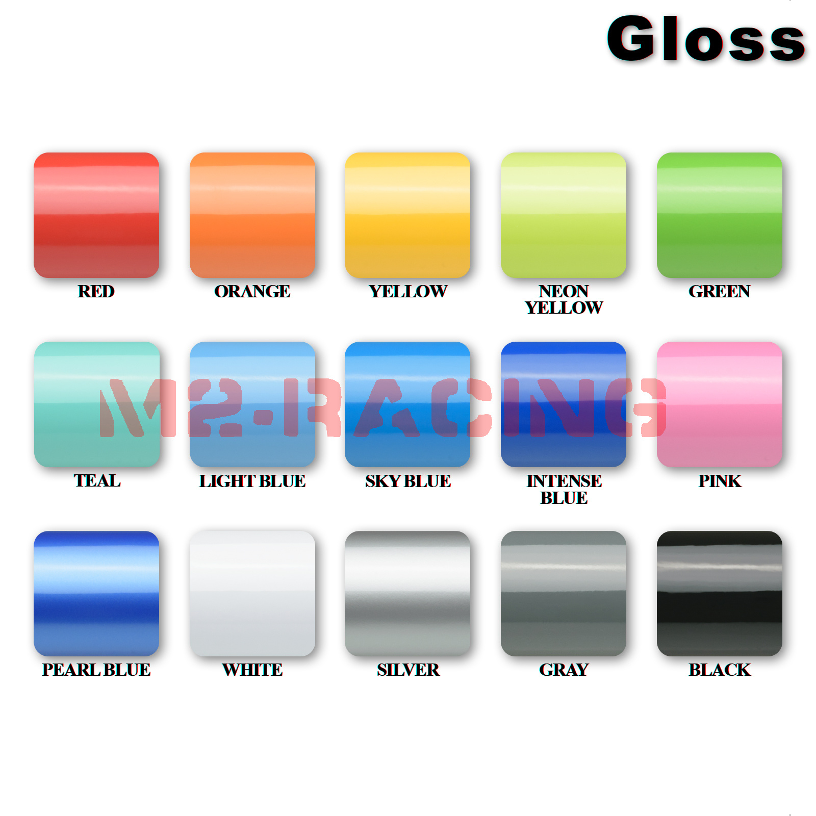 thumbnail 12 - 5FTx10FT Gloss Glossy Black Vinyl Wrap Sticker Decal Film Air Release DIY Sheet