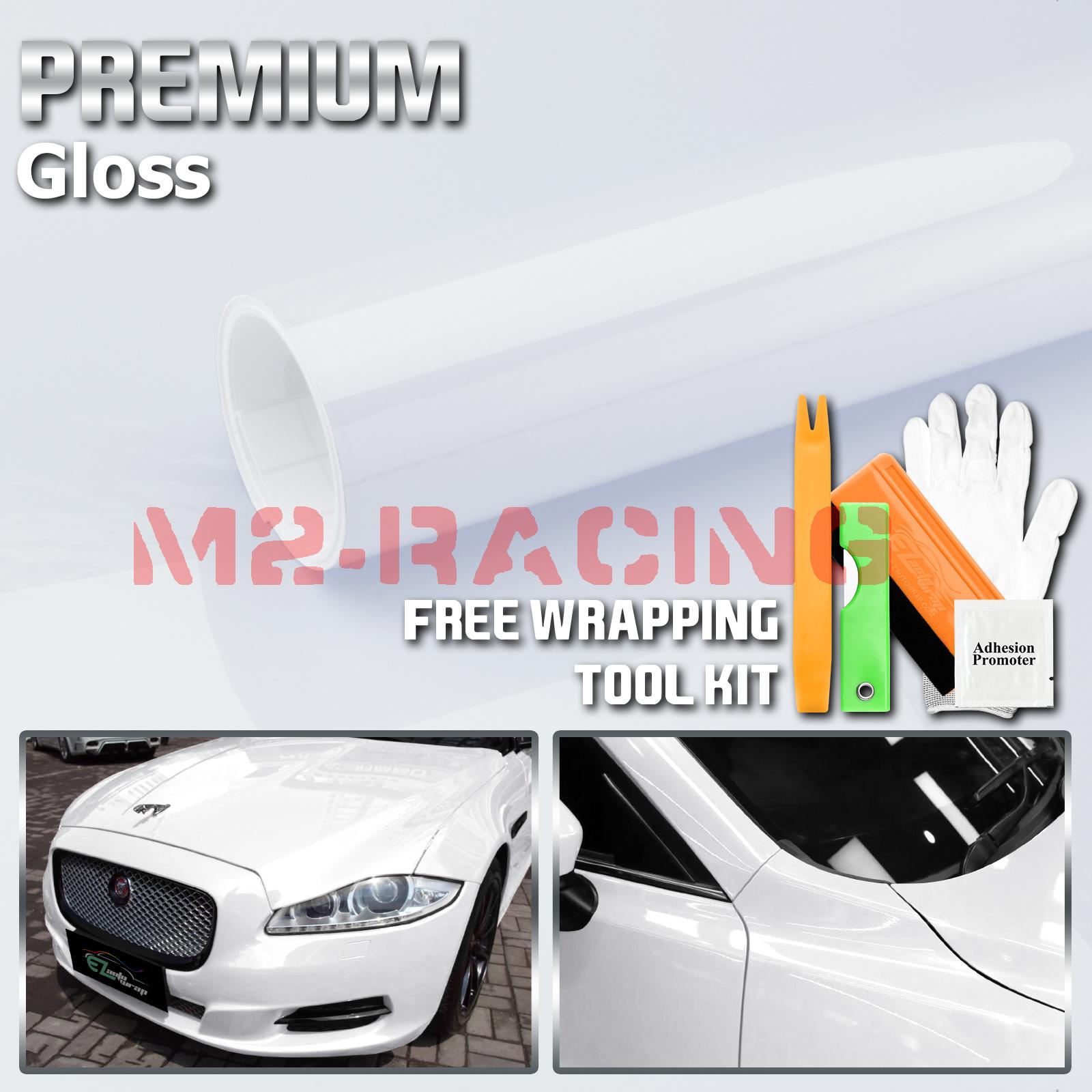 "120/"" x 60/"" Gloss White Vinyl Film Wrap Sticker Decal Air Bubble Free 10ft x 5ft"
