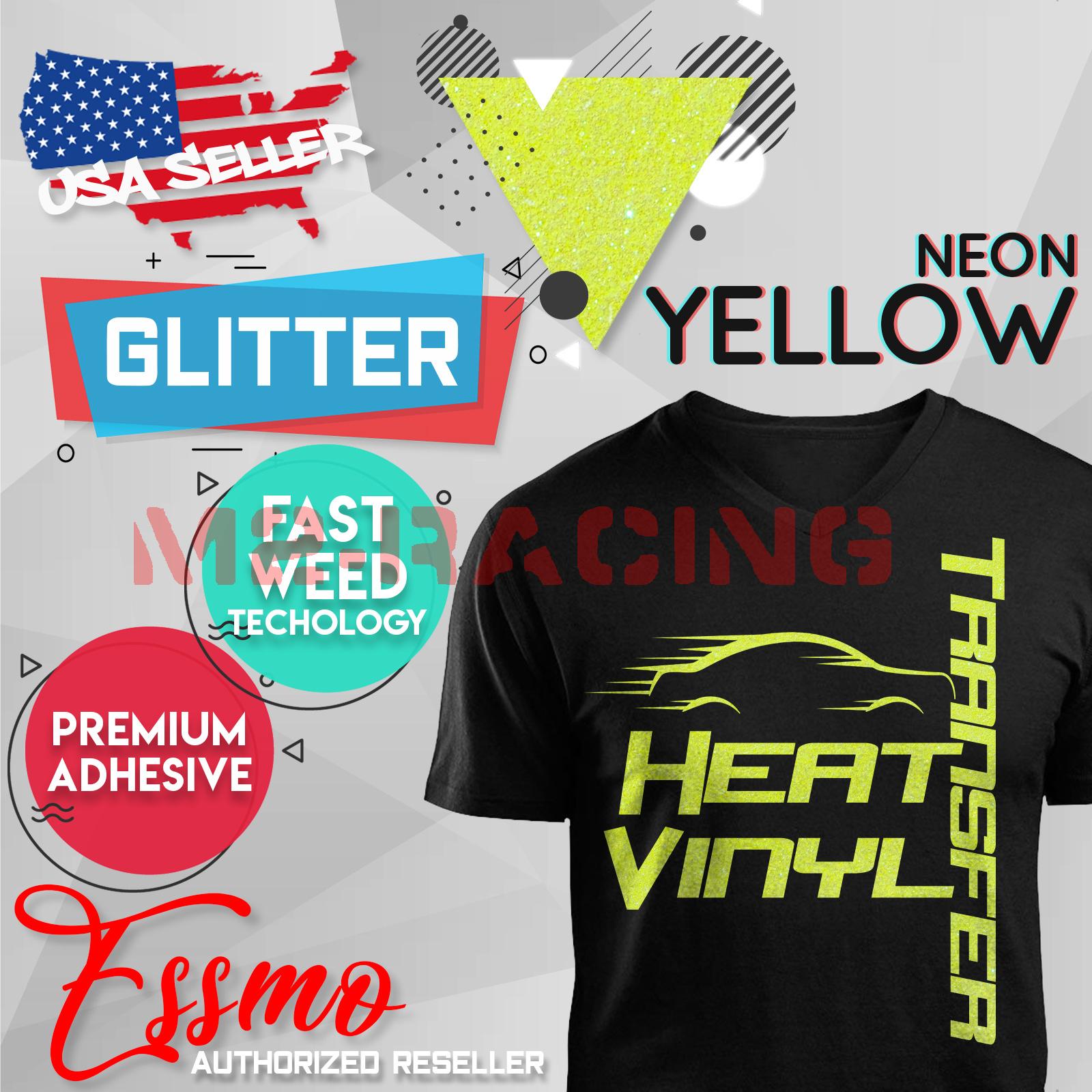 """Neon Pink Glitter Heat Transfer Vinyl HTV T-Shirt 20/"""" Iron On Heat Press DG26"""