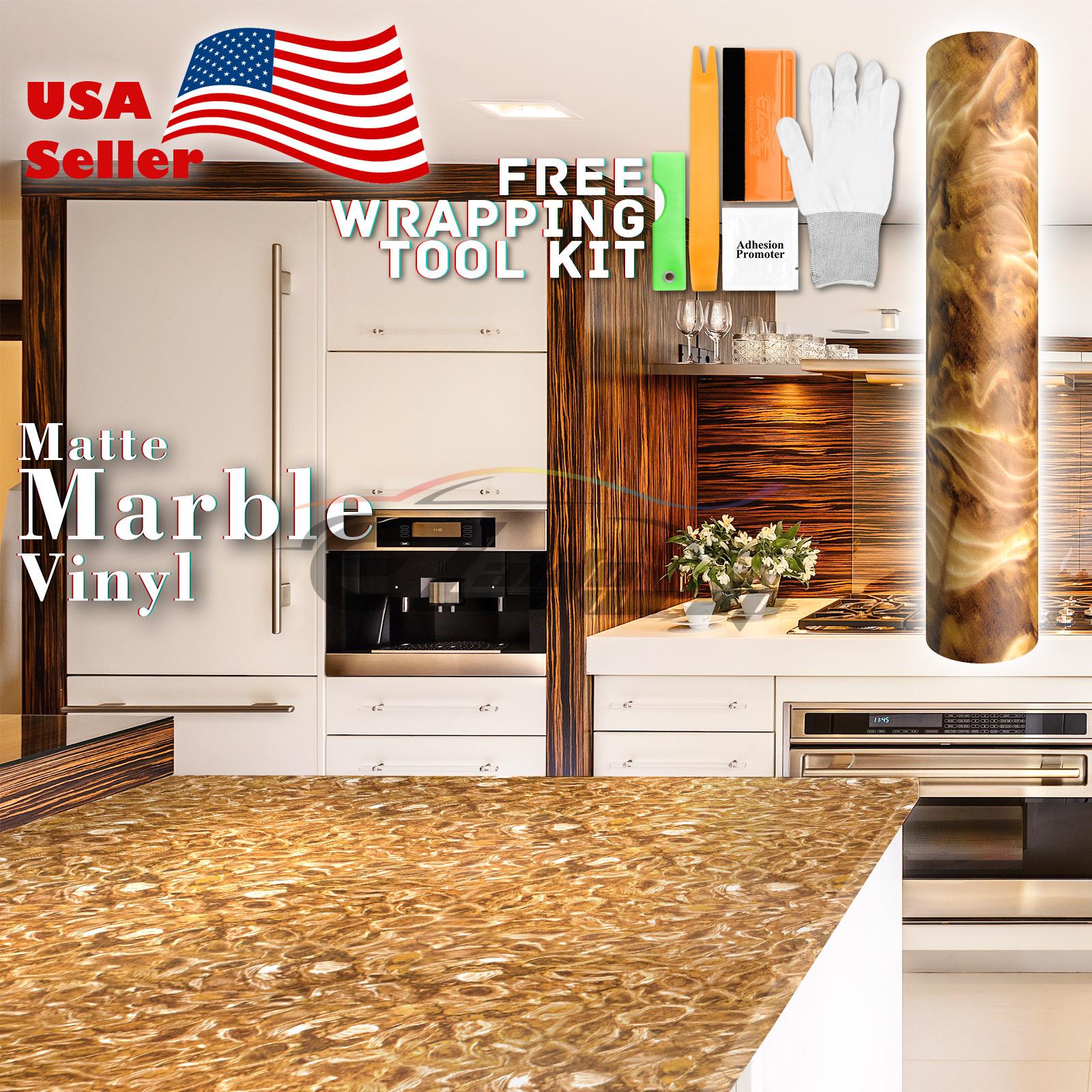 Premium Matte Marble Granite Look Vinyl