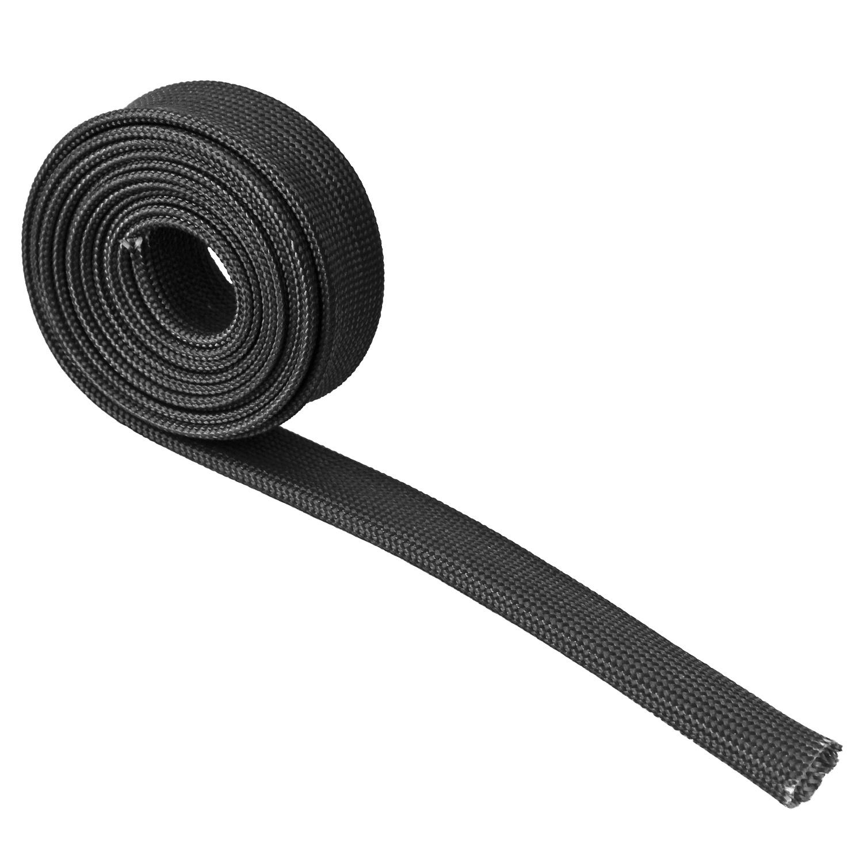 3//4 for Car Wire Loom Heat Sleeve Fiberglass Adjustable Heat Shield High Temp Black Colour 16FT-20MM
