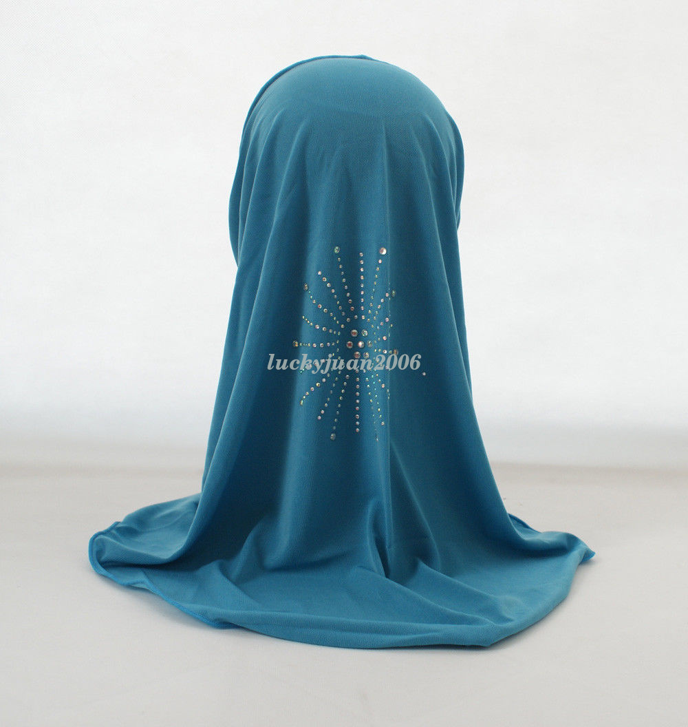 Girls-Kids-Muslim-Hijab-Hats-Islamic-Arab-Scarf-Caps-Shawls-Amira-Headwear-3-8Y thumbnail 32