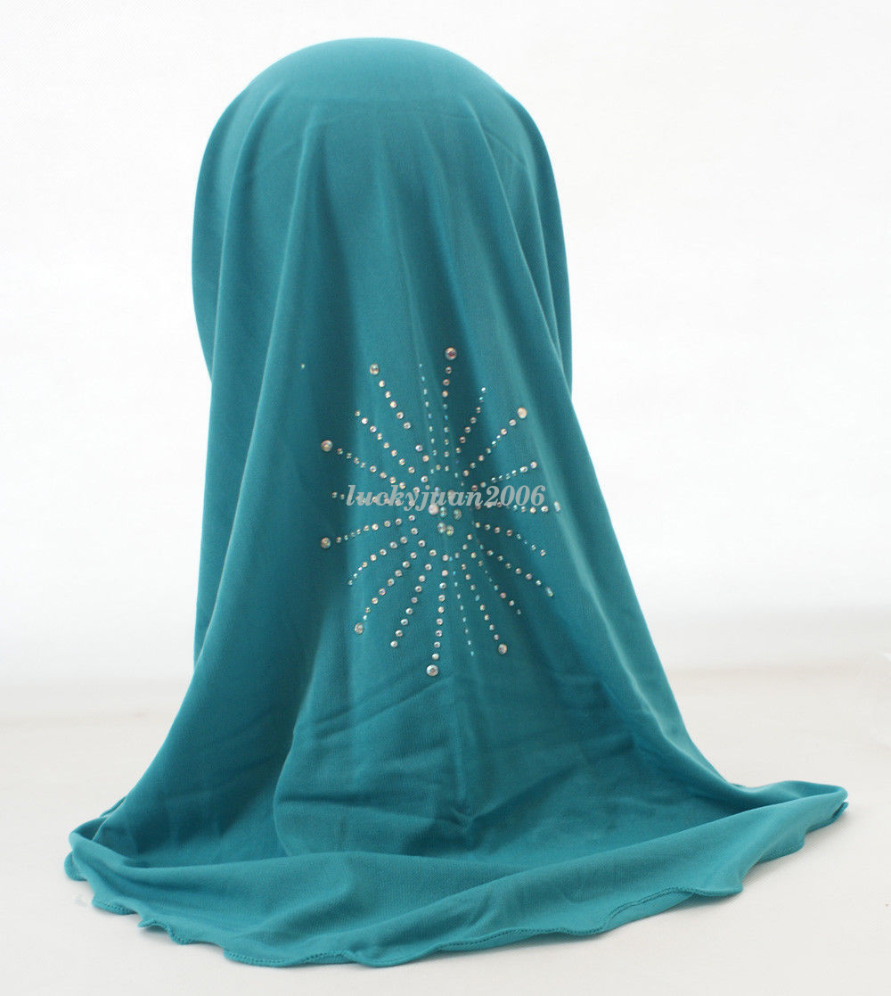 Girls-Kids-Muslim-Hijab-Hats-Islamic-Arab-Scarf-Caps-Shawls-Amira-Headwear-3-8Y thumbnail 47