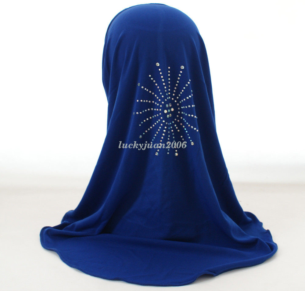 Girls-Kids-Muslim-Hijab-Hats-Islamic-Arab-Scarf-Caps-Shawls-Amira-Headwear-3-8Y thumbnail 18
