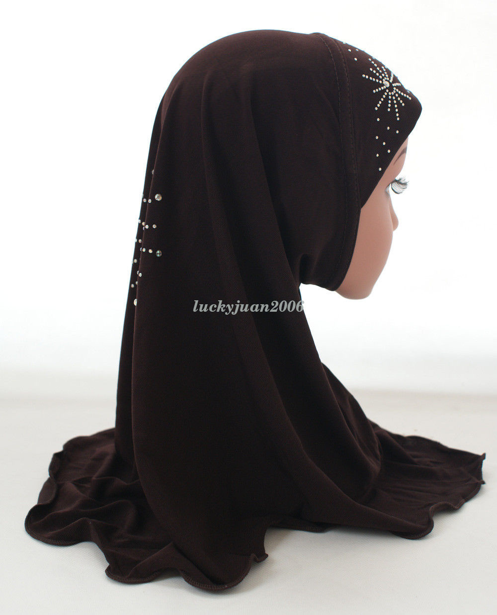 Girls-Kids-Muslim-Hijab-Hats-Islamic-Arab-Scarf-Caps-Shawls-Amira-Headwear-3-8Y thumbnail 25