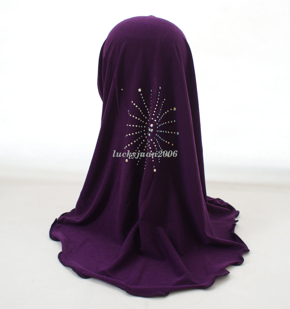 Girls-Kids-Muslim-Hijab-Hats-Islamic-Arab-Scarf-Caps-Shawls-Amira-Headwear-3-8Y thumbnail 41