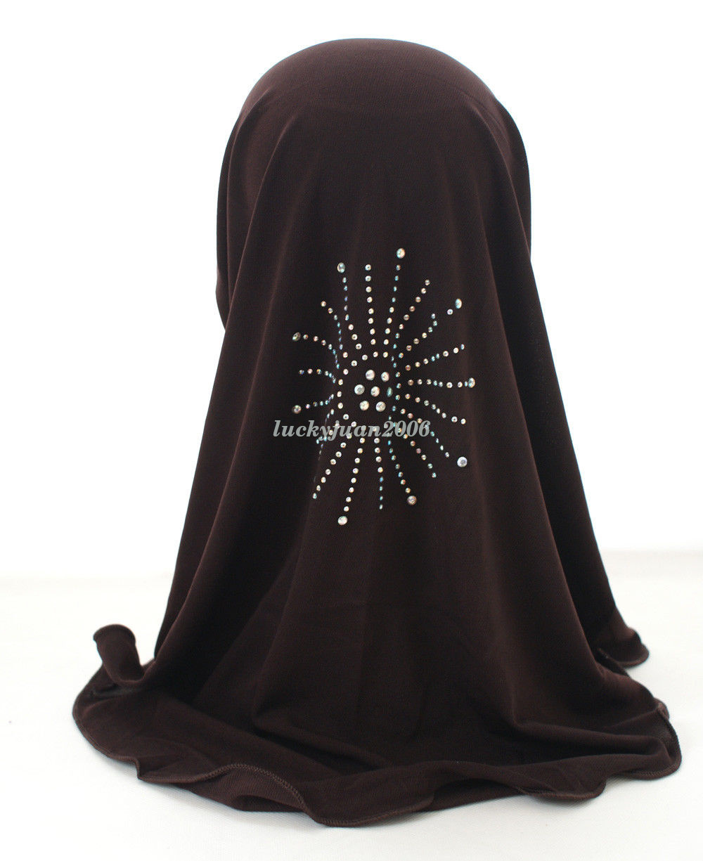Girls-Kids-Muslim-Hijab-Hats-Islamic-Arab-Scarf-Caps-Shawls-Amira-Headwear-3-8Y thumbnail 26