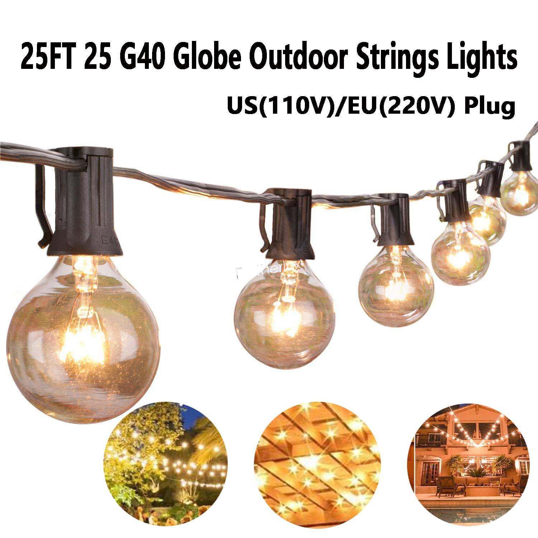 Lichterkette Außen Lichterkette Glühbirnen G40 25er Birnen Lichterkette Garten A